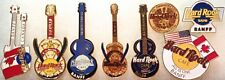 8 Hard Rock Cafe 1990s BANFF Canada PIN LOT Rare Guitars Anniversary HRC Logos +
