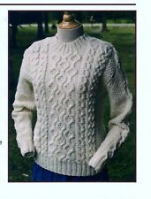 GORGEOUS VANILLA CABLED ARAN SWEATER to KNIT by JANET SZABO