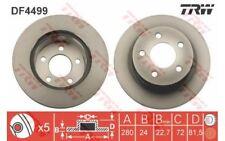TRW Juego de 2 discos freno 280mm ventilado JEEP GRAND CHEROKEE WRANGLER DF4499