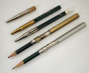Vintage Pencil Holders -  L&C Hardtmuth  + Pencil Caps