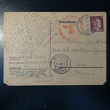 LETTRE COVER DE HOCHGARTH GRASLITZ CAMP DE CONCENTRATION 29.03.1944