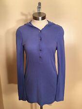 Women's BCBG Sky Blue Pullover Light Weight Hooded Sweatshirt Size Small