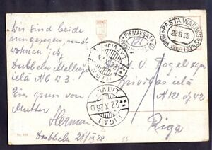 "11505 Latvia,1928,Art card with mail-van cancel:""Post Wagon-Riga-Wntspils"" to"
