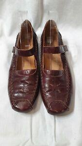 DJANGO & JULIETTE Shoes Size 41(EUR) Size 10 (AUS) Brown Leather Flats Comfort