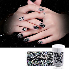 1 Bottle Holographic Starry Nail Art Foils Manicure Sticker Snake Texture Design