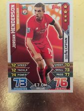 Match Attax Season 15/16 #137 Jordan Henderson- Liverpool  FC