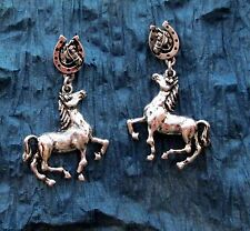 New Horse Dangle Earrings Western Cowgirl Gypsy Jewelry Rodeo Pony Texas
