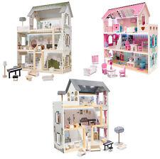 Puppenhaus LED Beleuchtung Großes XXL Kinder Puppen XL Spiel Haus Set aus Holz