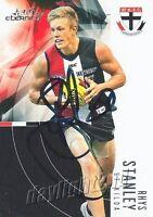 ✺Signed✺ 2012 ST KILDA SAINTS AFL Card RHYS STANLEY