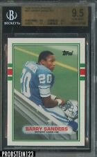 1989 Topps Traded Football #83T Barry Sanders Lions RC Rookie HOF BGS 9.5