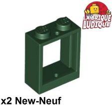 Vitre TRS Black Batiment 1X2X2 Windows Choose Color 60592+86209 Lego ® Fenêtre