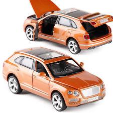 Bentley SUV Bentayga 1:32 Model Cars Toys Sound&Light Gifts Alloy Diecast Orange