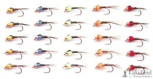 (Set M2) 10x or 25x Hot Spot Pheasant Tail Nymphs Trout Flies for Fly Fishing