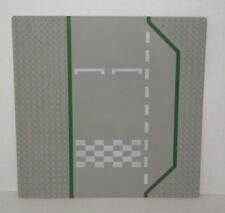 "10"" LEGO Baseplate 425p01 Road 32 x 32 3 Lane Race Track Checker Pattern #TY17"