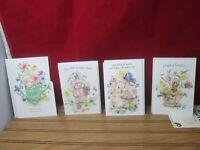 Mary Hamilton Happy Easter Card Cards Bunny Chicks Basket Unused Hallmark