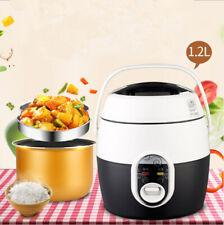 Portable Mini Electric Rice Cooker for Student Small Pot Dormitory Office 1.2L