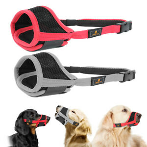 Mesh Dog Muzzle Breathable Mouth Cover Adjustable for Small Large Pet Size 6 XXL
