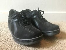 Sano By Mephisto Black Leather Comfort Walking Shoes - Women's US Size 9