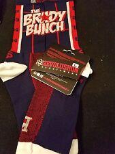 "New England Patriots ""Brady Bunch socks"" (MD, Navy)"