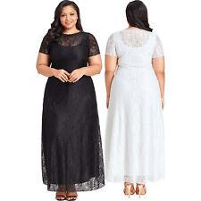 6739f06b5 Vestido largo de fiesta de encaje negro tallas grandes mujer