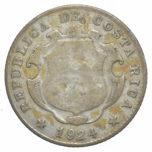 Better Date - 1924 Costa Rica 25 Centimos - SILVER *454