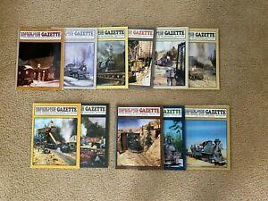 LOT OF NARROW GAUGE & SHORT LINE GAZETTE MAGAZINES 11 ISSUES 2004-2009