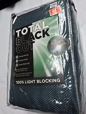 Total Blackout Energy Saving Rod Pocket Curtain Panels 50in W x 84in L Brand New