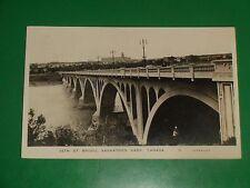 ZU287 Vintage 1946 RPPC 25th Street Bridge Saskatoon Saskatchewan Canada