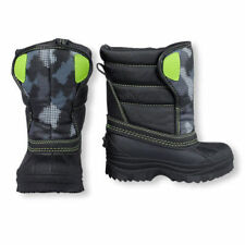 The Children's Place Toddler Boys Green Gray Arctic CAMO Snow Boots 7 NWT