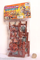 USA AMERICAN REVOLUTION 8 Pc. w/ Cannons Wheels Playset WAR Diorama 98567 NEW