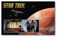 STAR TREK = 3-D = 3D MOTION = LENTICULAR = HV  Souvenir Sheet Canada 2016 MNH-VF