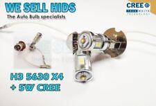 2x H3 Smd 5w Cree + 4 5630 Led Blanco Luz De Niebla Flash Drl Proyector