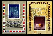 POLAND - POLONIA - BF - 1955 - Mostra Filatelica Internazionale a Varsavia - Usa