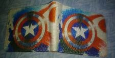 MARVEL COMICS CAPTAIN AMERICA COOL GRAPHIC CANVAS MENS BI-FOLD WALLET! AWESOME!