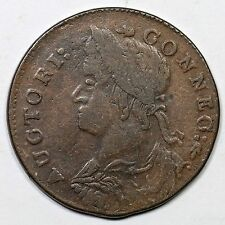 1787 34-ff.1 R-5 Connecticut Colonial Copper Coin