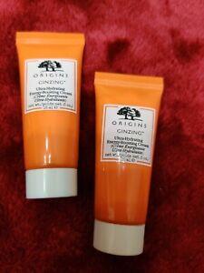 SET 2 * ORIGINS GinZing Ultra Hydrating Energy Boosting Cream .5 oz /15 ml each