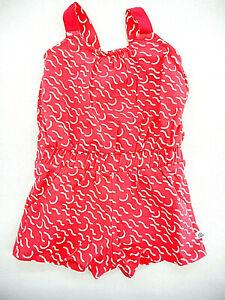 Toddler/Girls Art & Eden 4-Way-Stretch Red & White Romper Sizes 2, 5, & 6