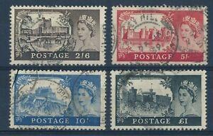GREAT BRITAIN 1955 USED SET # 309/12, QUEEN ELIZABETH !! B50