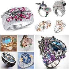 Lovely 925 Silver Animal Ring White Topaz Sapphire Women Man Wedding Jewelry