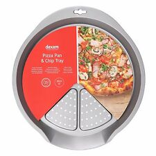 Dexam Bakeware Non-Stick Oven Chip and Pizza Pan - 35.5 x 38.5cms