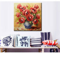 1set Russia Flowers red rose Diamond embroidery paint cross stitch home^decor DS