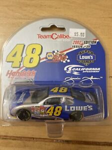 2002 Jimmie Johnson #48 Lowe's California 1st Cup Win Chevy 1:64 Team Caliber
