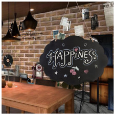 Hanging Wooden Message Board Black Chalkboard Style For Wedding Party Menu Sign
