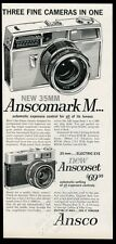 1960 Ansco Anscomark M 35mm and Anscoset camera vintage print ad