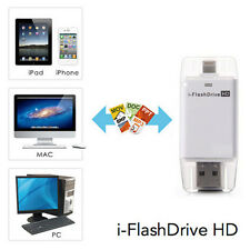 USB i-Flash Drive HD Micro SD/TF Memory Card Reader Adapter For iPhone iPad iPod