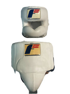 Fighting Sports No Contact Boxing Headgear - White And Groin Guard
