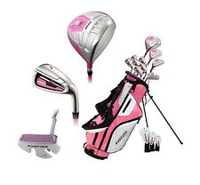 NEW Precise M5 Ladies Womens Complete Right Handed Golf Club Package Set - PINK