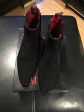 Jeffery West Men's Suede Black Boots. Size 9. Used Condition. Need Re-heeling!