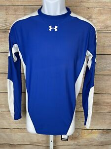 Under Armour Football Sz XL Compression Shirt Long Sleeve Crewneck Heatgear Blue