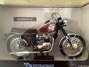 2003 NewRay 1969 TRIUMPH BONNEVILLE 1/6 Scale Motorcycle Diecast NIB